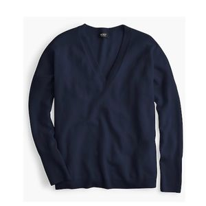 J crew vneck cashmere boyfriend sweater oversized